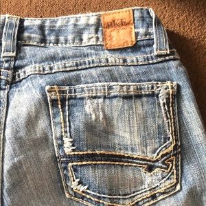 BKE jeans with flare legs